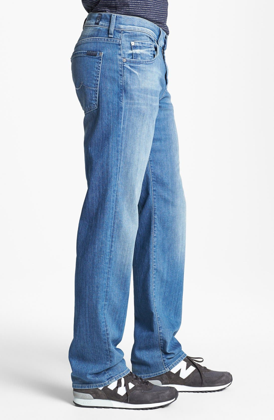 Alternate Image 3  - 7 For All Mankind® 'Austyn' Relaxed Fit Jeans (Washed Out)