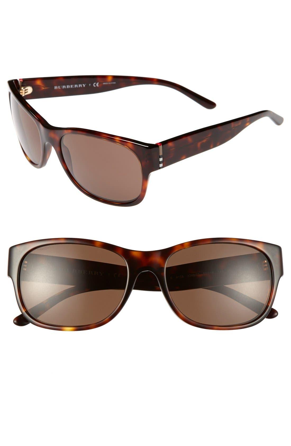 Main Image - Burberry 58mm Sunglasses
