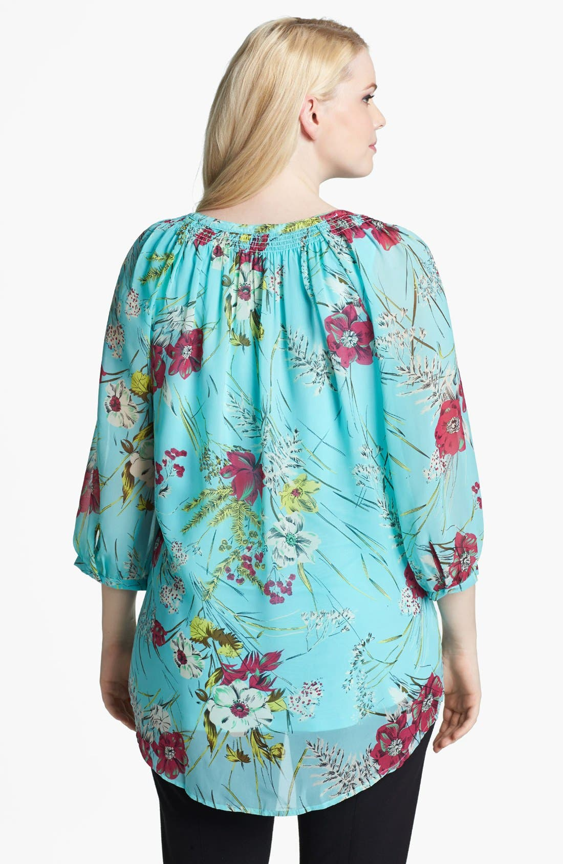 Alternate Image 2  - Daniel Rainn Print Blouse & Camisole (Plus Size)