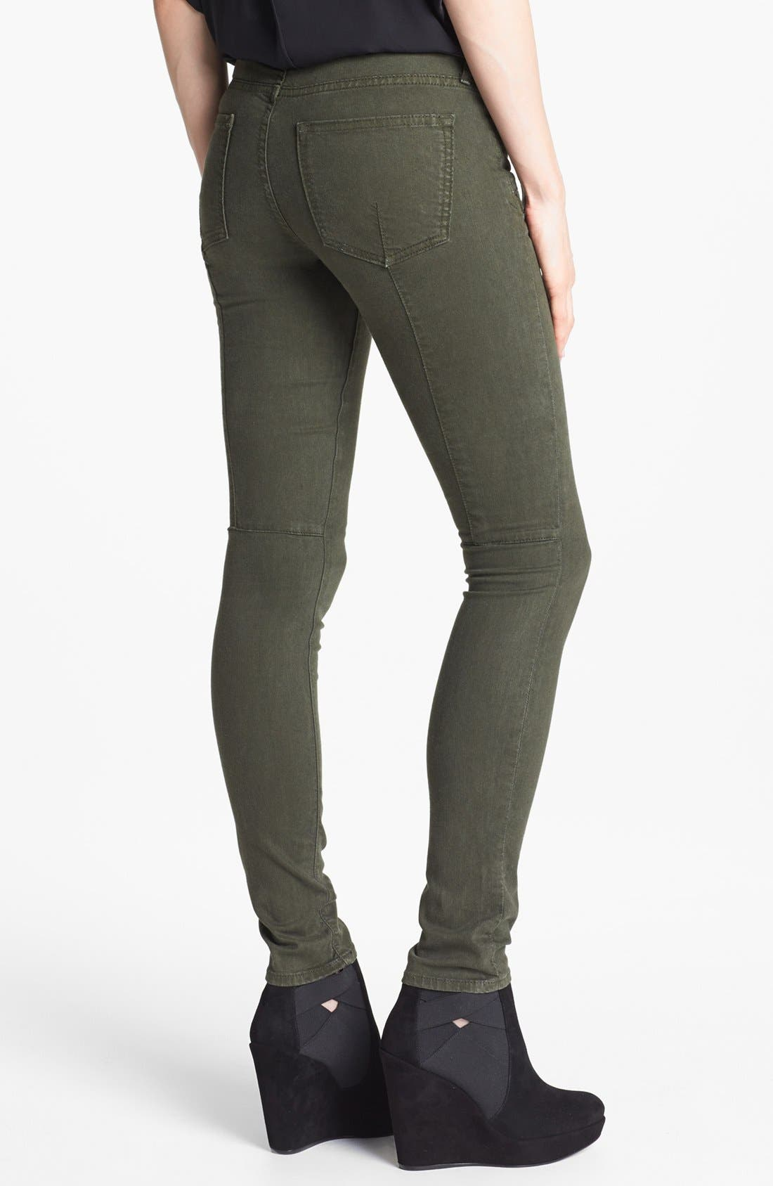 Alternate Image 2  - Vince Skinny Stretch Jeans (Dark Olive)