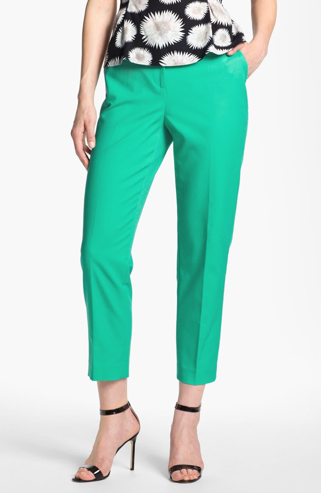 Main Image - Halogen® 'Taylor' Curvy Fit Crop Pants