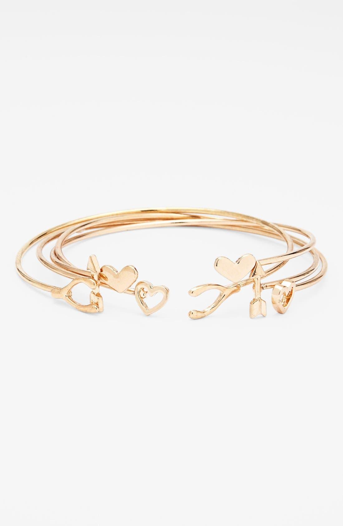 Main Image - Kool Konnections 'Dainty' Bracelets (Set of 4)