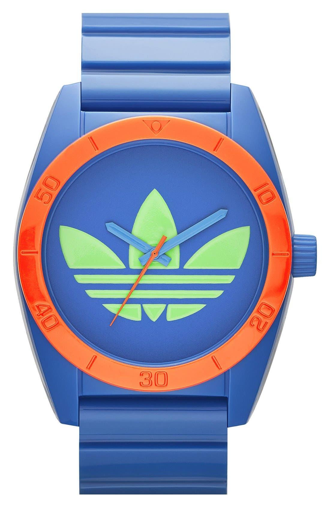 Alternate Image 1 Selected - adidas Originals 'Santiago - Special Edition' Plastic Strap Watch, 42mm