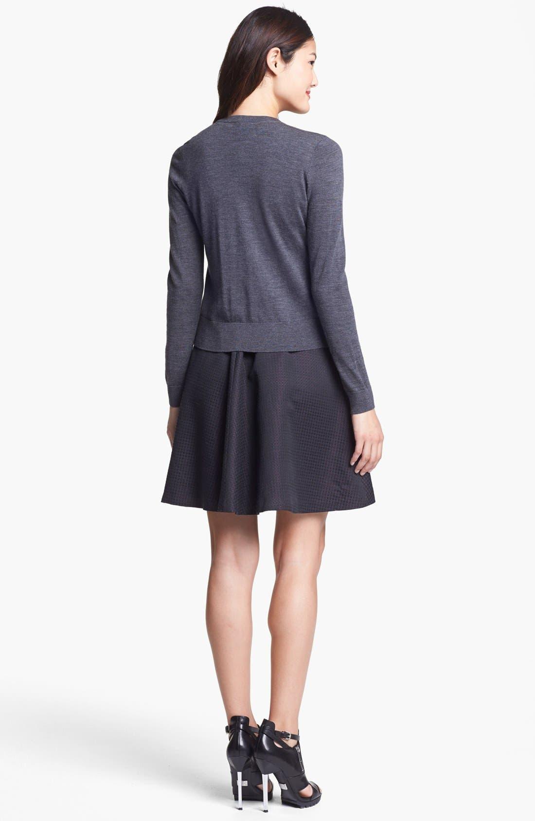 Alternate Image 5  - Halogen® Jacquard Fit & Flare Dress (Regular & Petite)