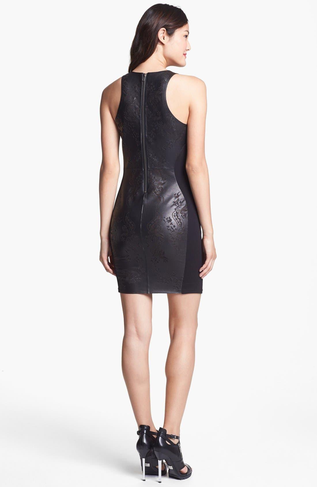 Alternate Image 2  - Dolce Vita Laser Cut Leather Sheath Dress