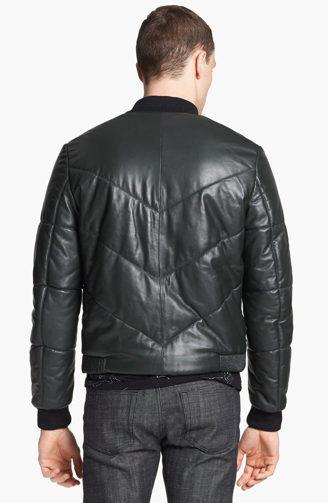 Alternate Image 2  - KENZO Quilted Leather Bomber Jacket