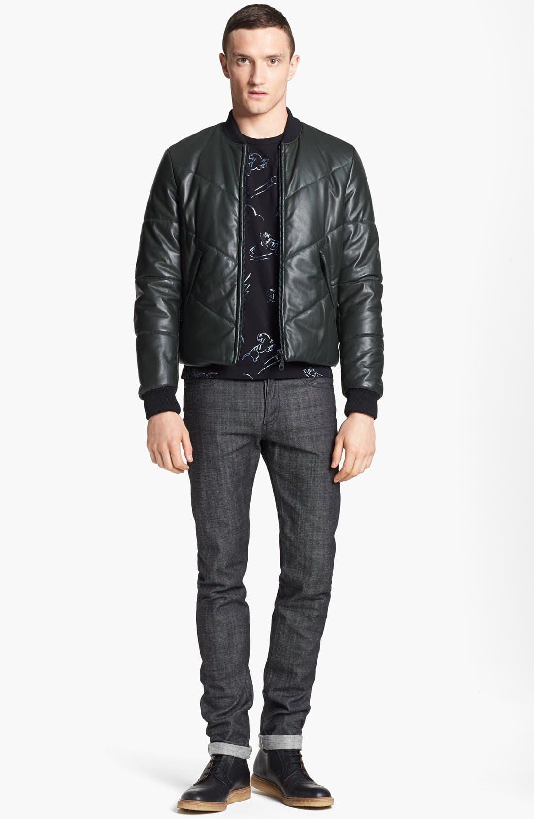 Alternate Image 4  - KENZO Quilted Leather Bomber Jacket