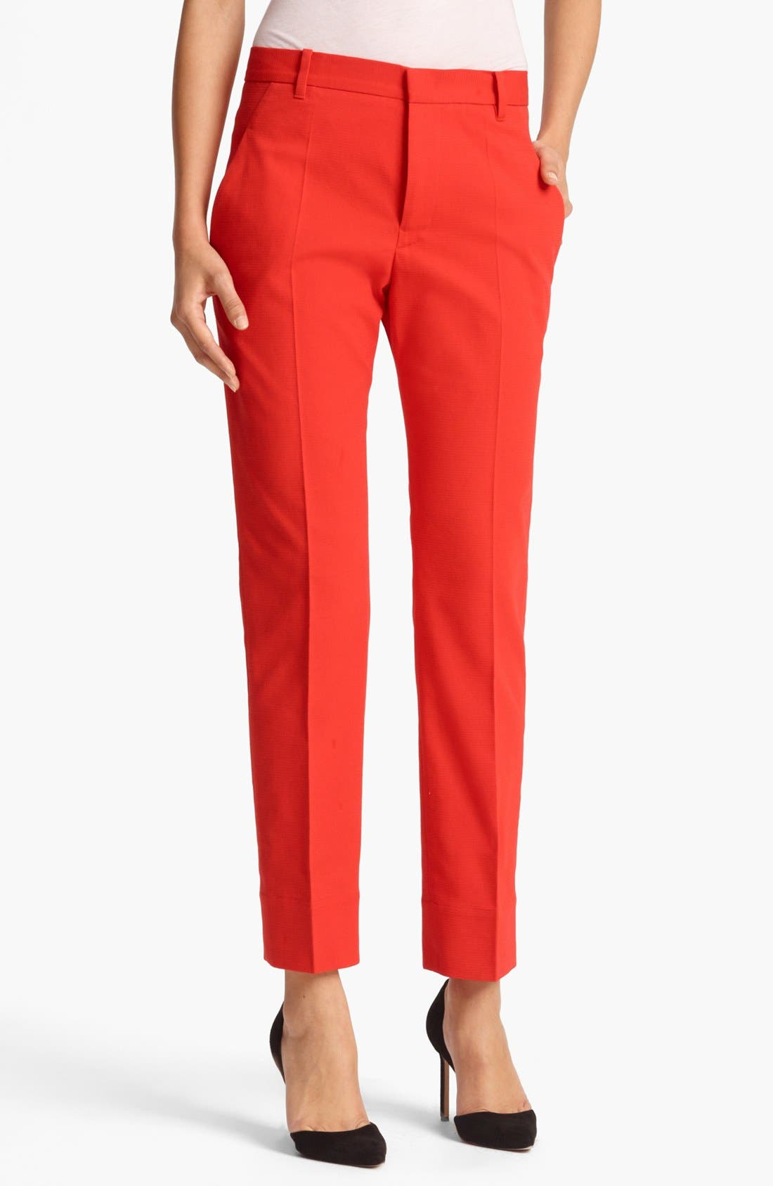 Alternate Image 1 Selected - Jil Sander 'Niccolo' Stretch Piqué Crop Pants
