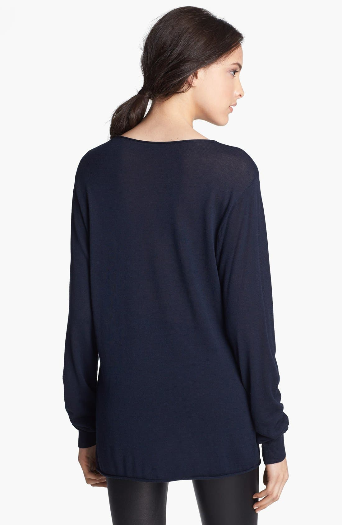 Alternate Image 2  - T by Alexander Wang Fitted Jersey Tee