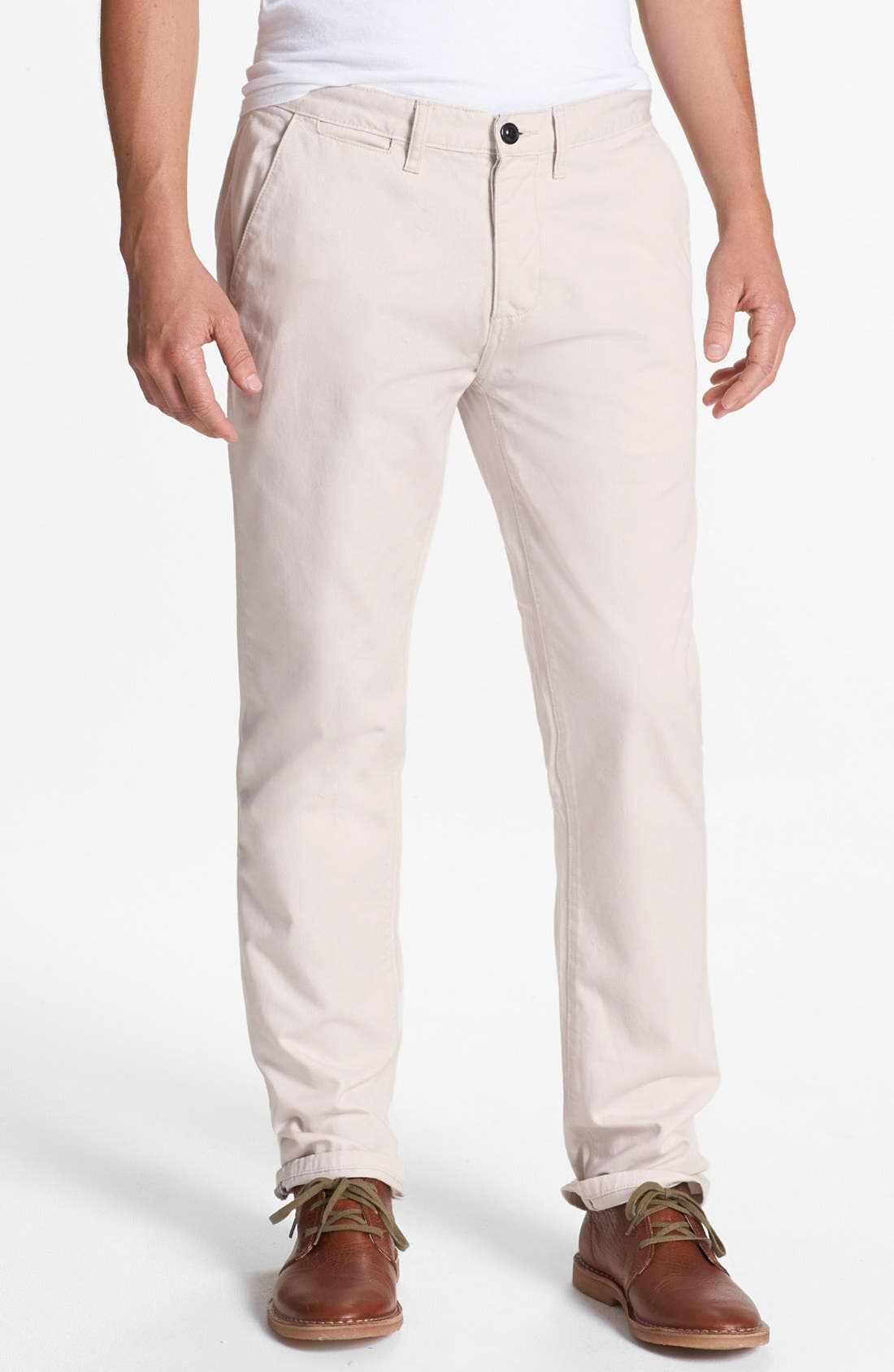 Alternate Image 1 Selected - Topman Cotton Trousers
