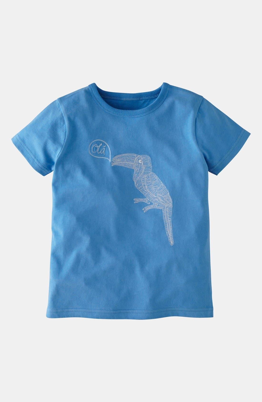 Alternate Image 1 Selected - Mini Boden 'Superstitch' T-Shirt (Toddler Boys)