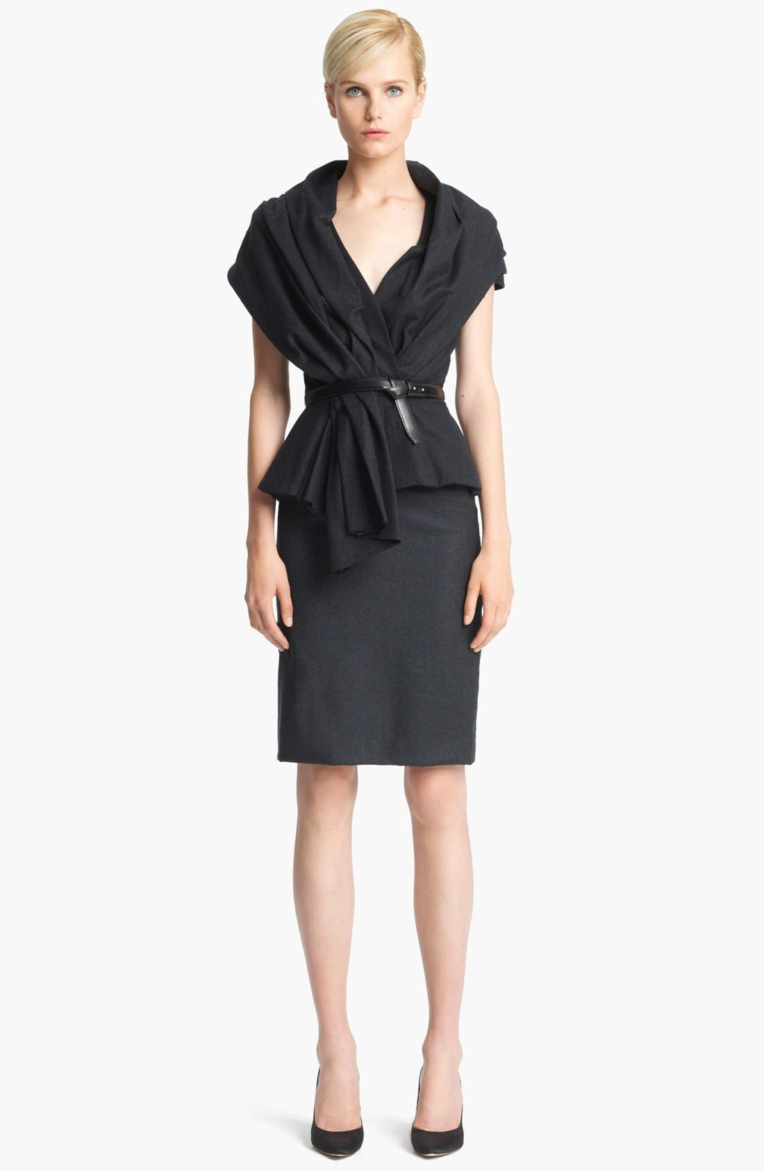 Alternate Image 2  - Oscar de la Renta 'Skyline' Short Sleeve Flannel Jacket