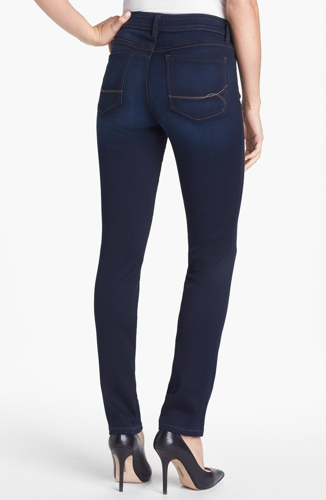 Alternate Image 3  - NYDJ 'Alina' Stretch Skinny Jeans (Pasadena) (Regular & Petite)