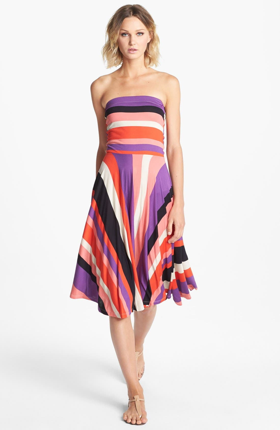 Main Image - Felicity & Coco 'Miliani' Strapless Stripe Fit & Flare Dress (Nordstrom Exclusive)
