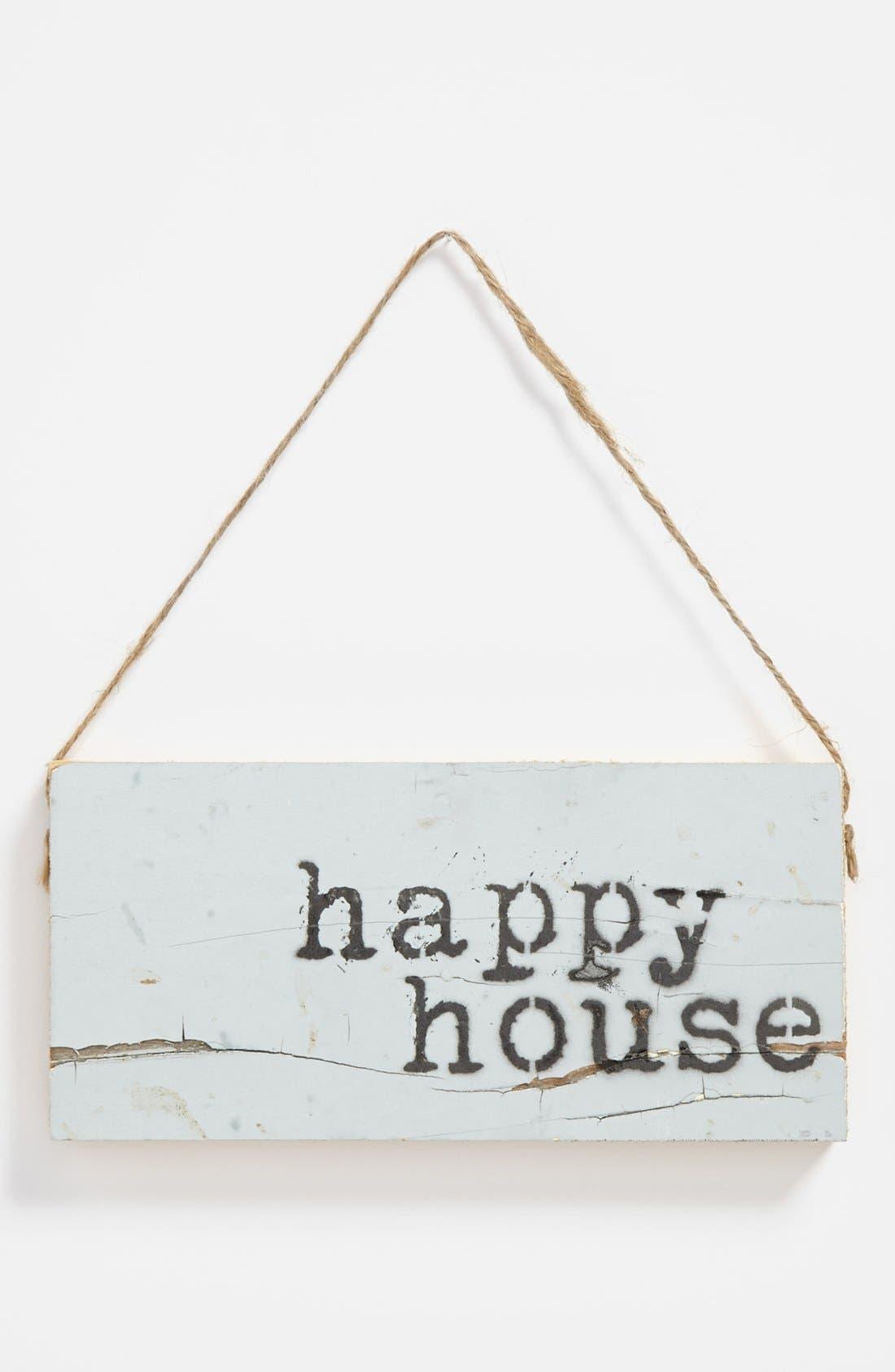 Alternate Image 1 Selected - 'Happy House' Repurposed Wood Wall Art