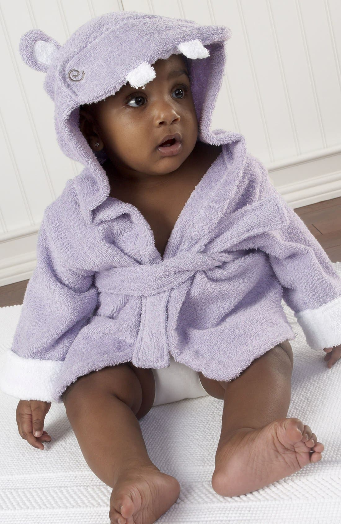 Alternate Image 2  - Baby Aspen 'Hug a Lot Amus' Hooded Robe (Baby)