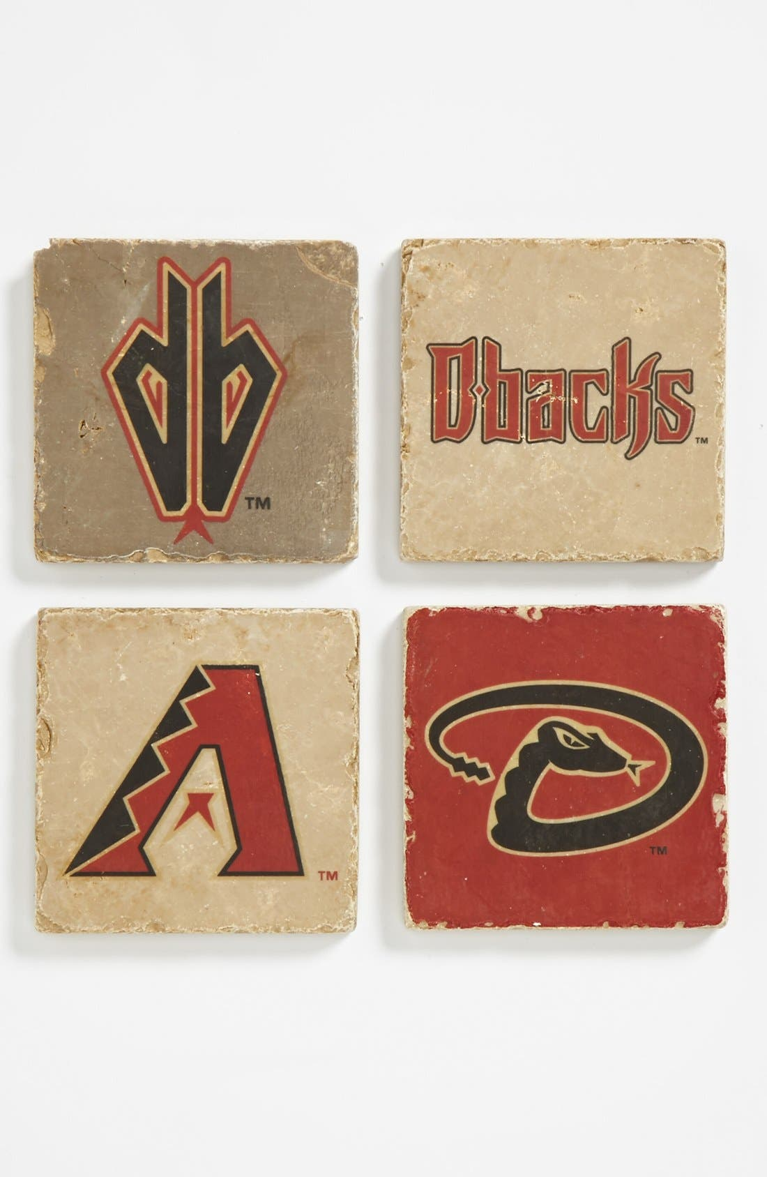 Main Image - 'Arizona Diamondbacks' Marble Coasters (Set of 4)