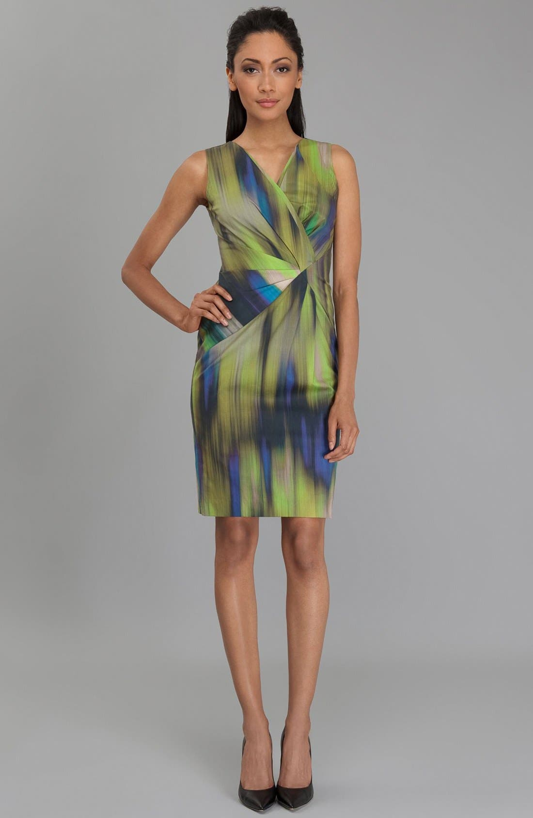 Alternate Image 4  - Lafayette 148 New York 'Laurel - Brushstroke Ikat' Dress