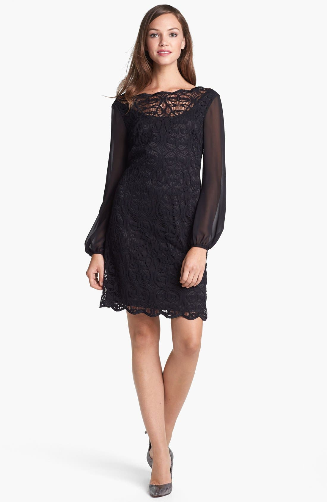 Alternate Image 3  - Adrianna Papell Lace & Chiffon Dress