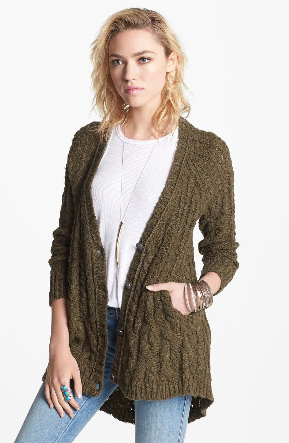 Alternate Image 1 Selected - Free People 'The Fable' Knit Cardigan