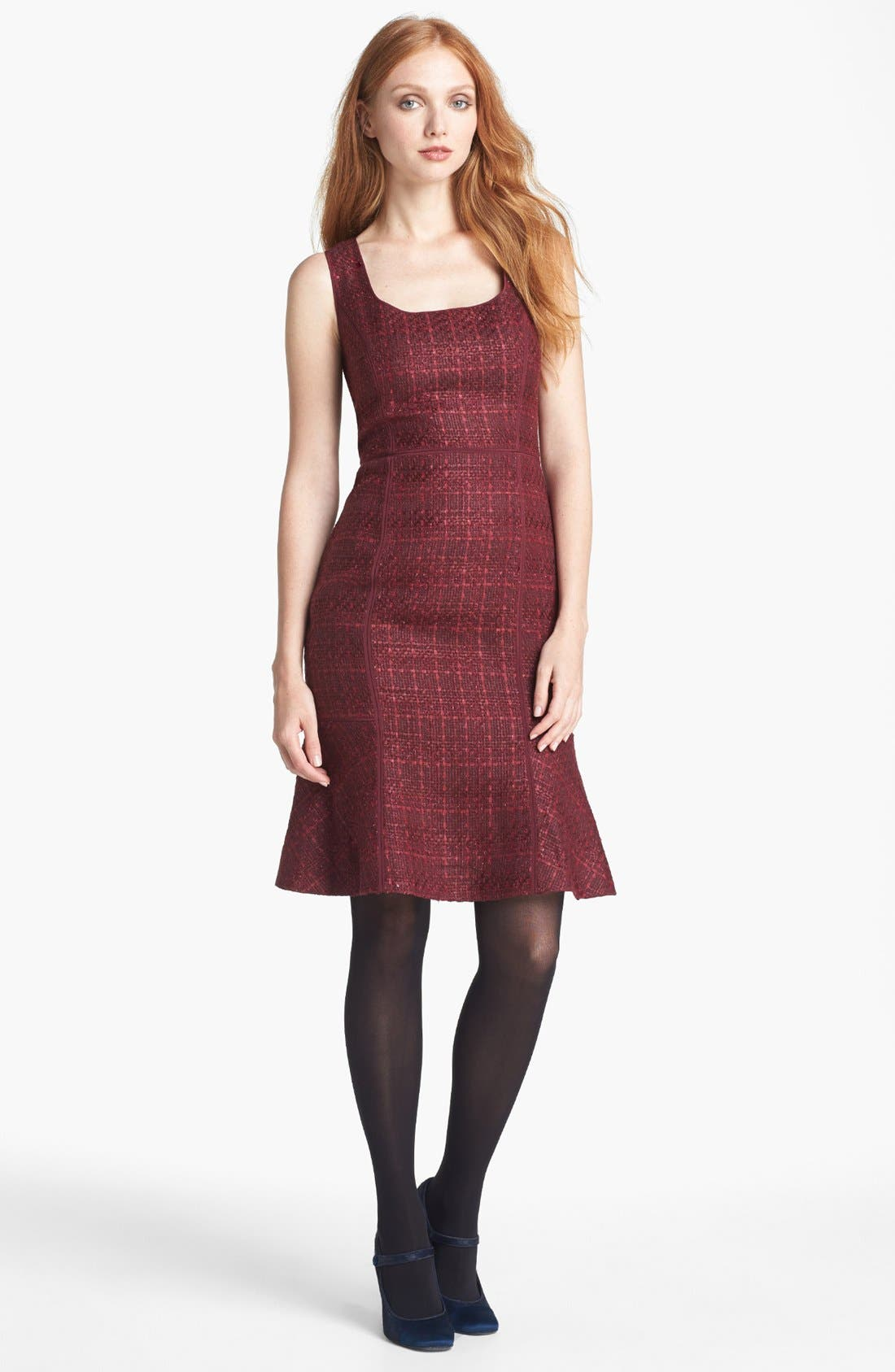 Main Image - Tory Burch 'Drew' Tweed Sheath Dress