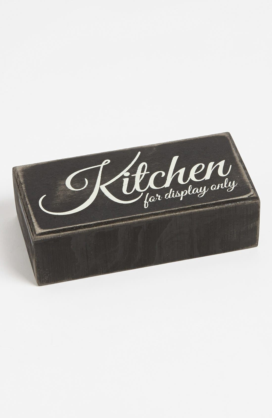 Main Image - Primitives by Kathy 'Kitchen for Display Only' Box Sign