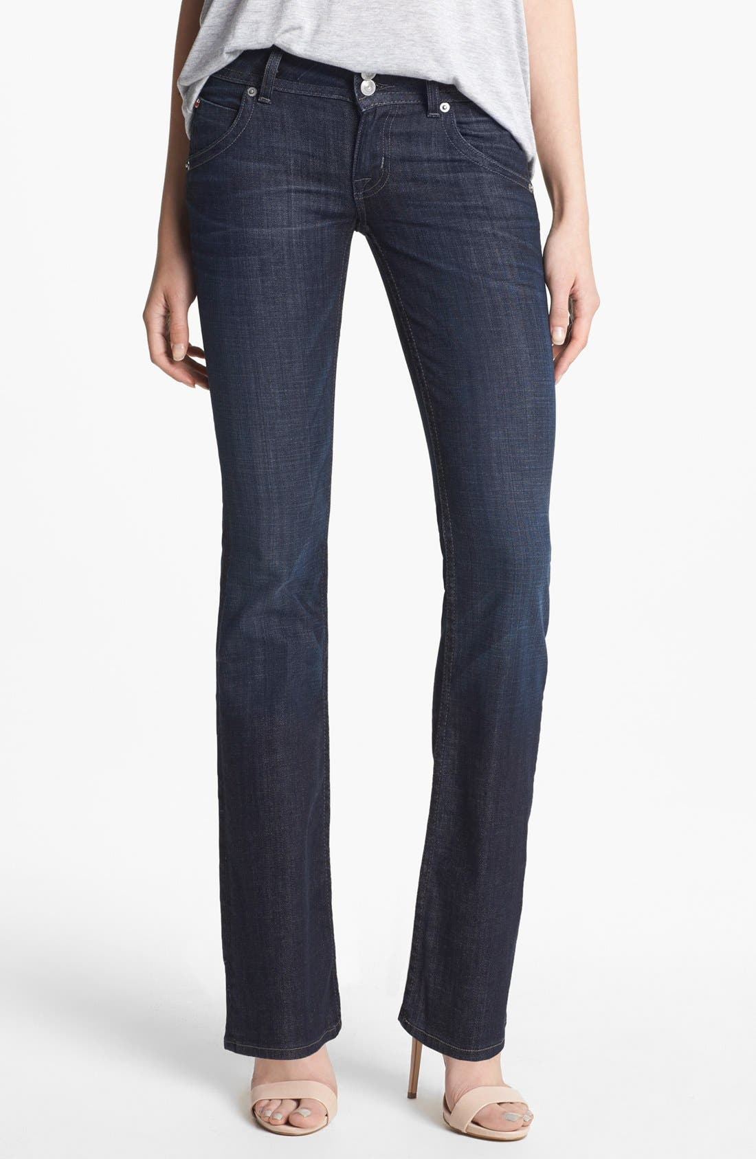 Main Image - Hudson Jeans Signature Bootcut Stretch Jeans (Savage) (Petite)