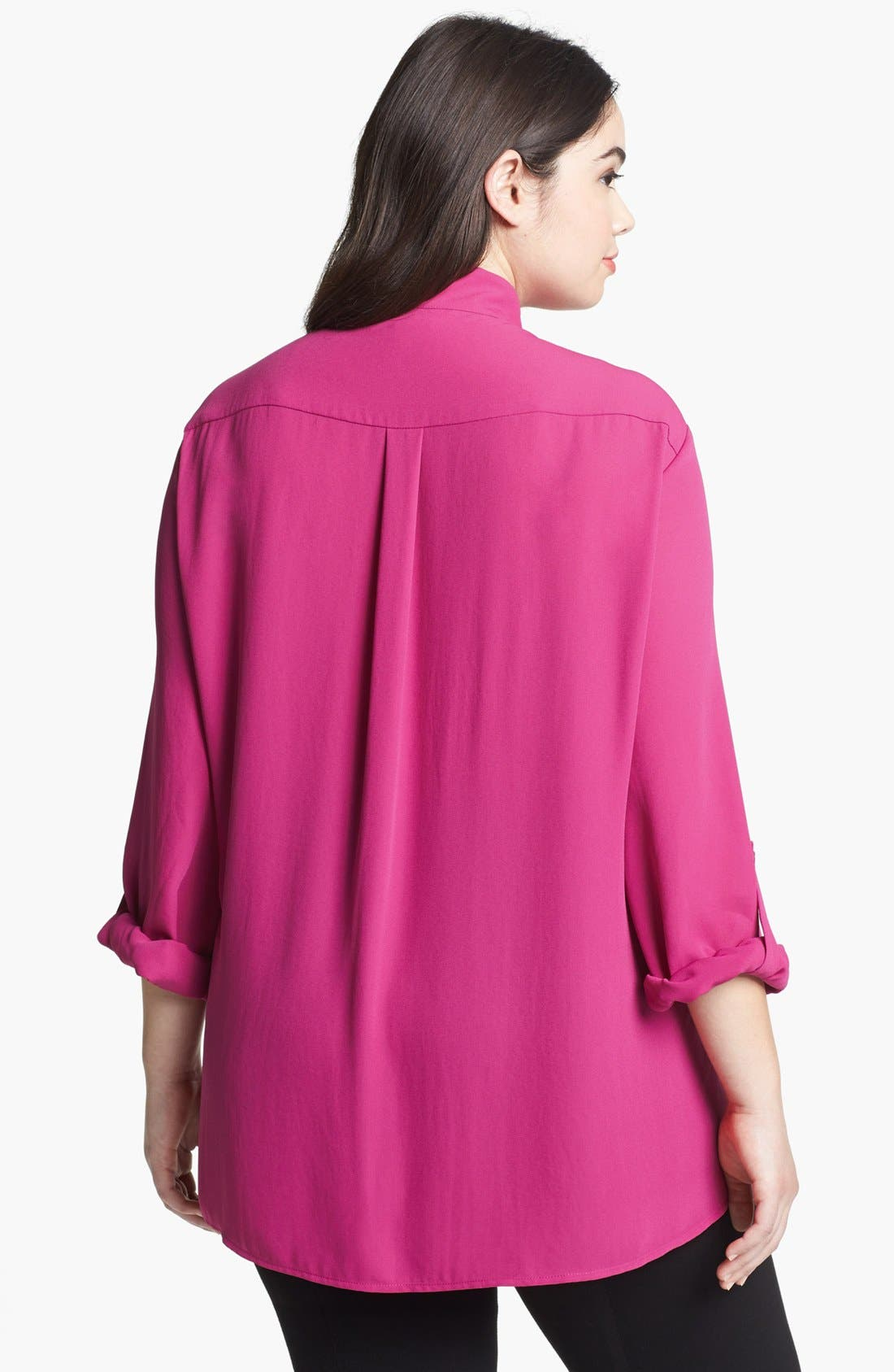 Alternate Image 2  - Pleione V-Neck Blouse (Plus Size)