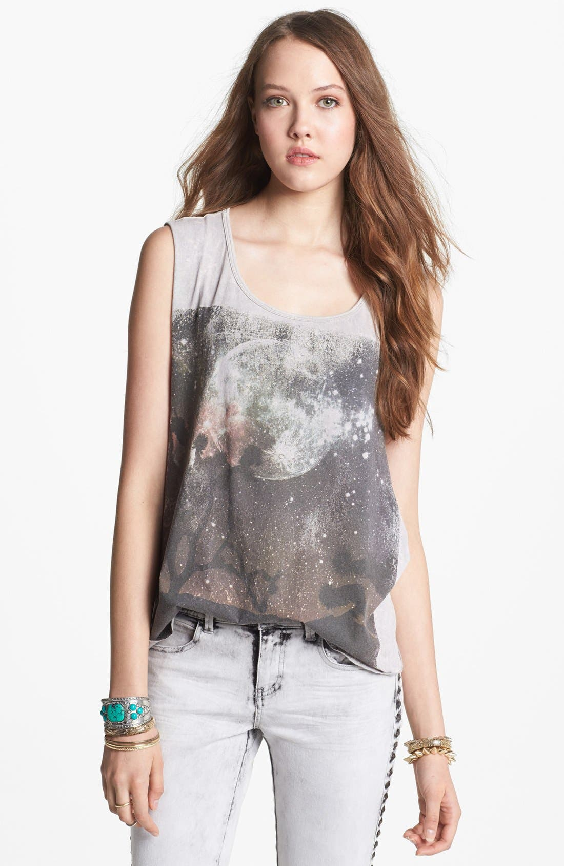 Alternate Image 1 Selected - Project Social T 'Joshua Tree Moon' Muscle Tank (Juniors)