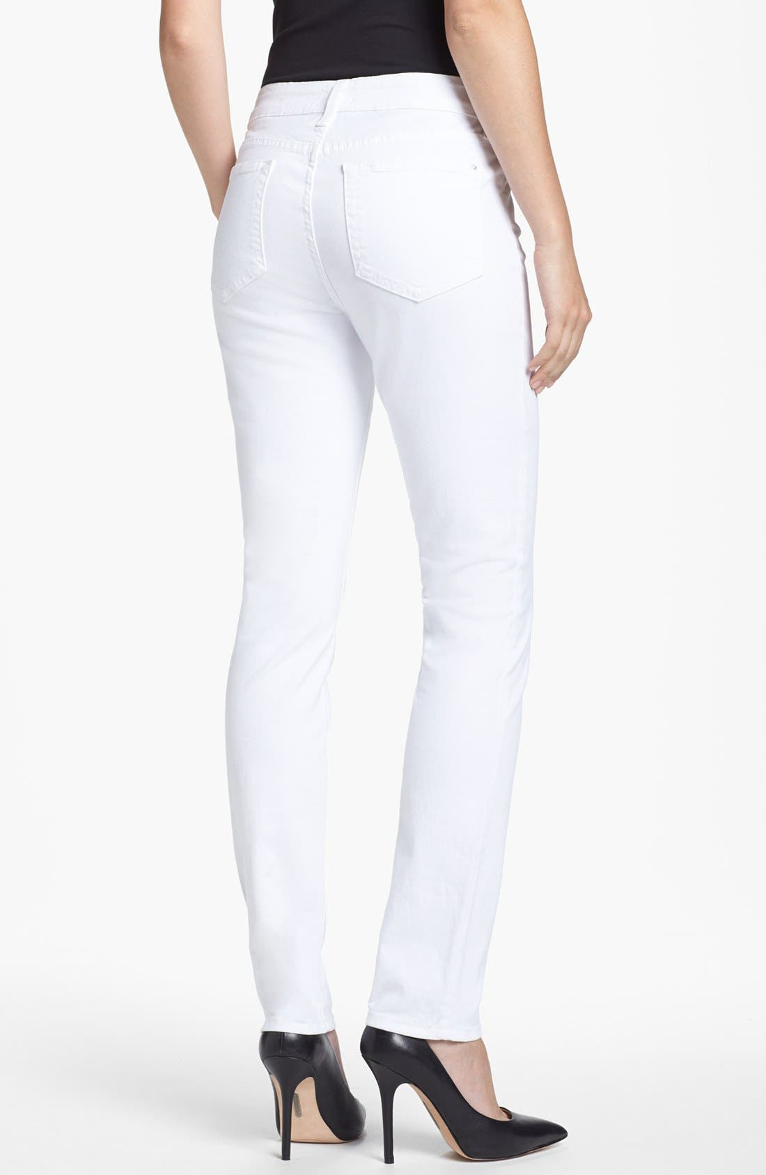 Alternate Image 3  - NYDJ 'Jade' Colored Stretch Skinny Jeans