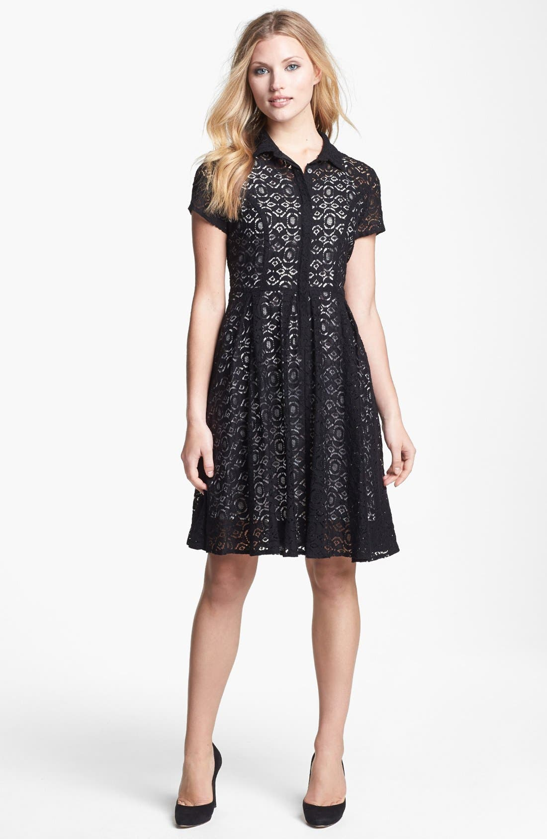 Alternate Image 1 Selected - Chaus Lace Shirtdress