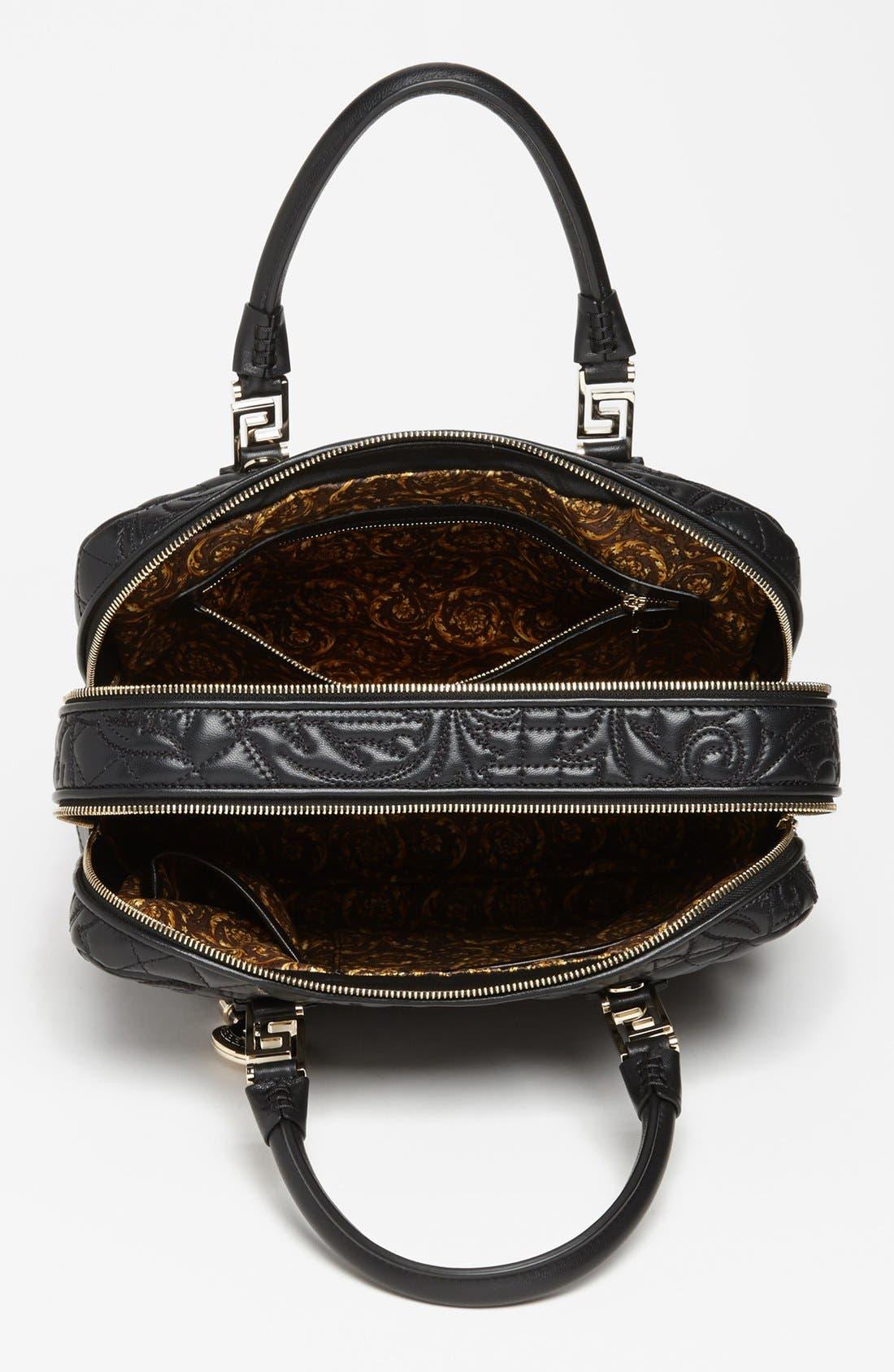 Alternate Image 3  - Versace 'Linea' Embroidered Leather Satchel