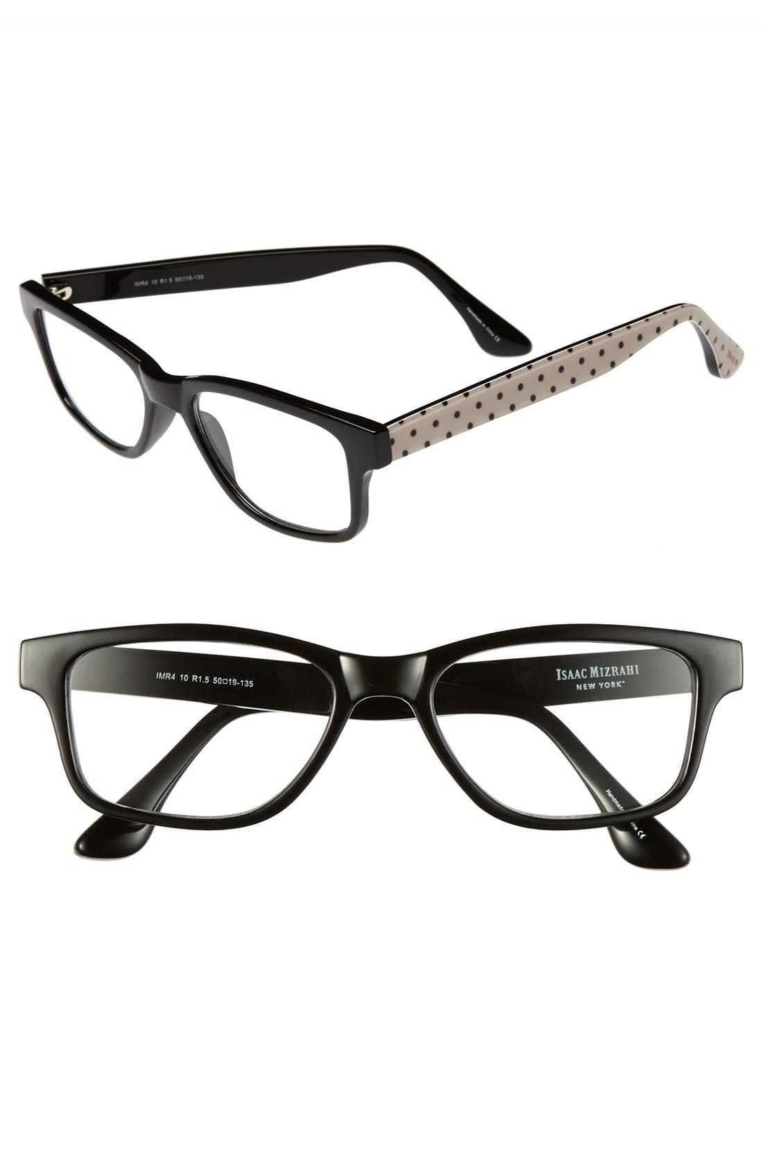 Alternate Image 1 Selected - Isaac Mizrahi New York 50mm Rectangular Reading Glasses