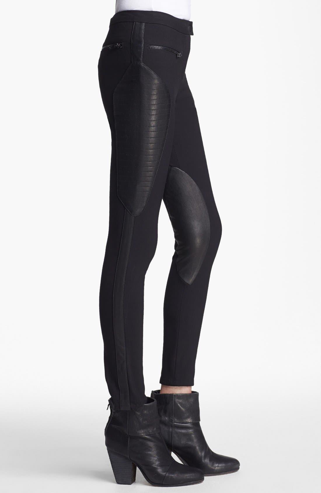Alternate Image 4  - rag & bone 'Ilford' Leather Panel Pants