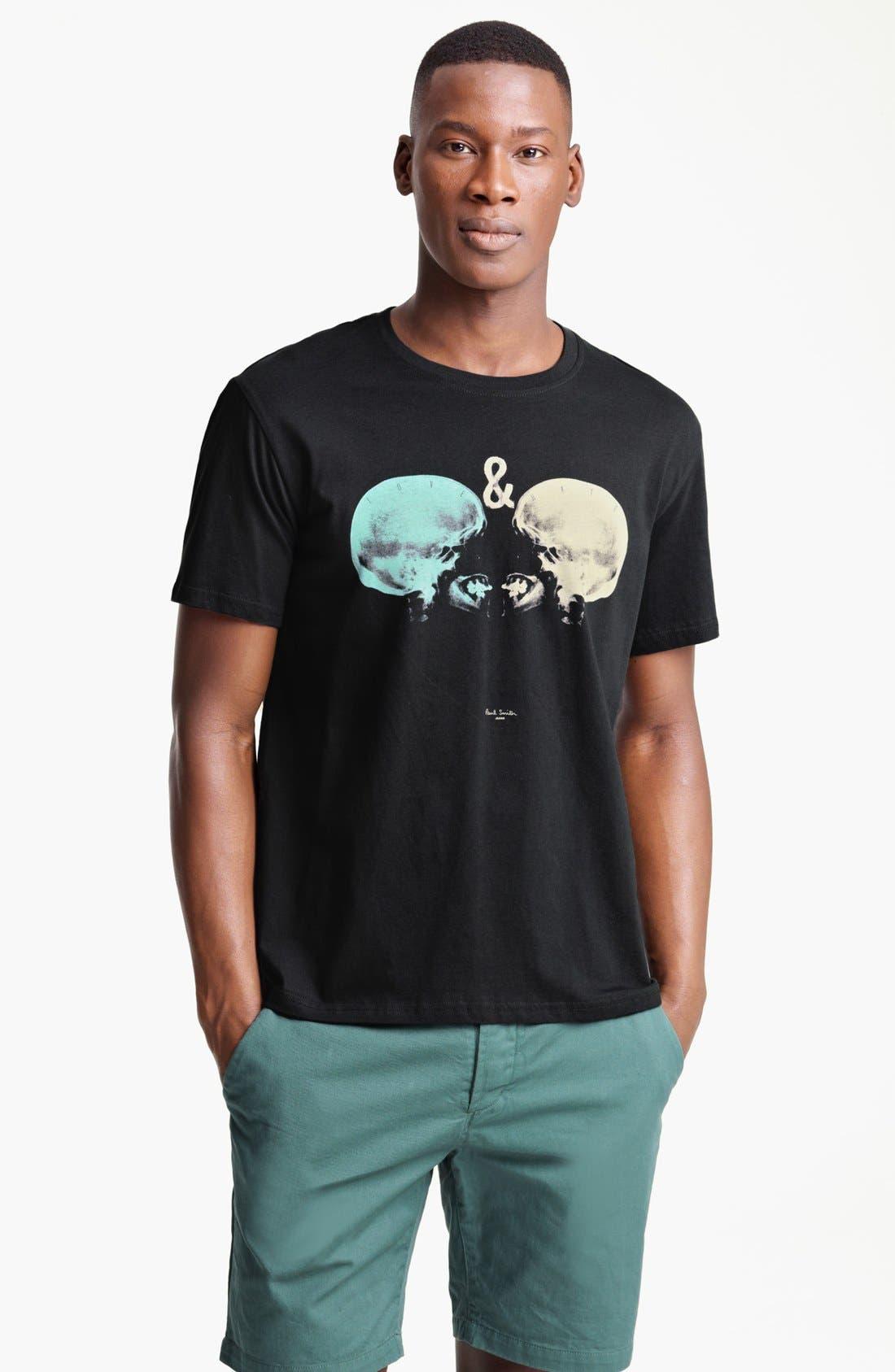 Alternate Image 1 Selected - Paul Smith Jeans Skull Print T-Shirt