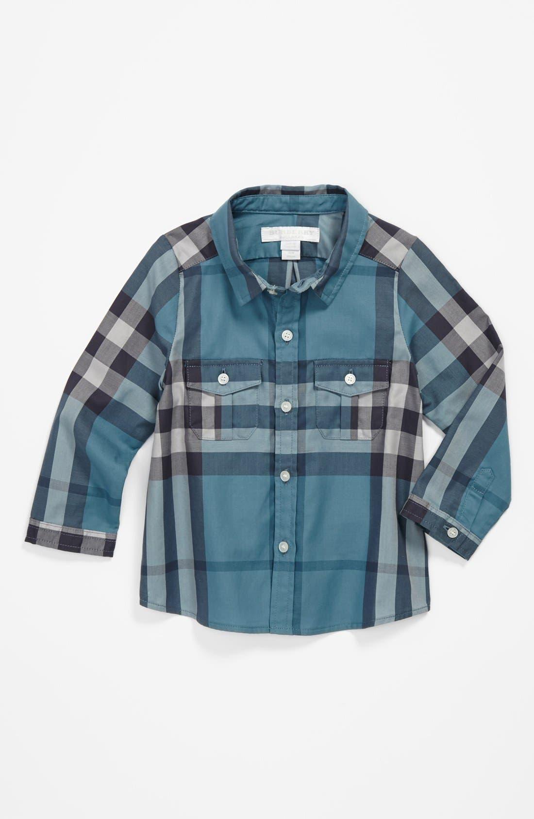 Main Image - Burberry 'Trent' Check Shirt (Baby Boys)