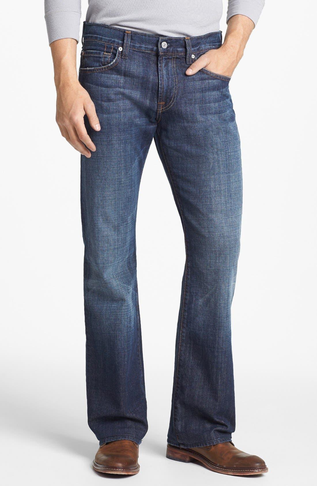 Alternate Image 1 Selected - 7 For All Mankind® Brett Bootcut Jeans (New York Dark)