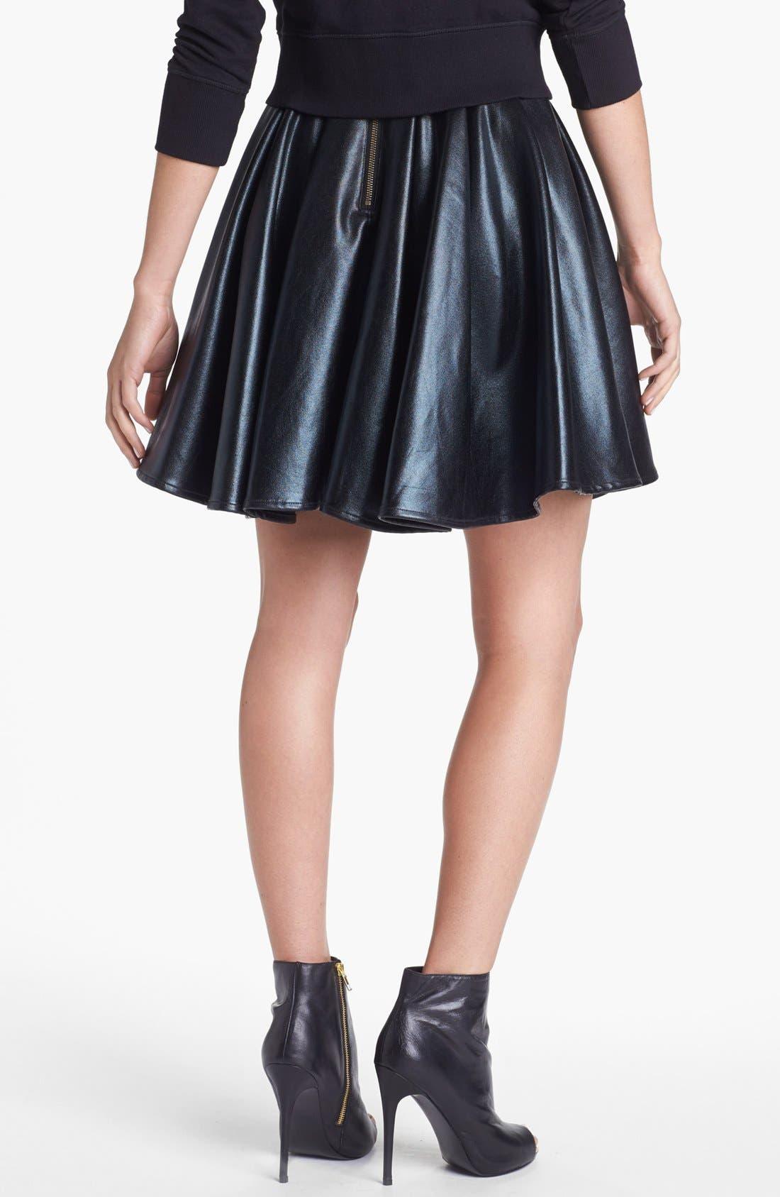 Alternate Image 2  - ELEVENPARIS 'Timac' Faux Leather Skater Skirt
