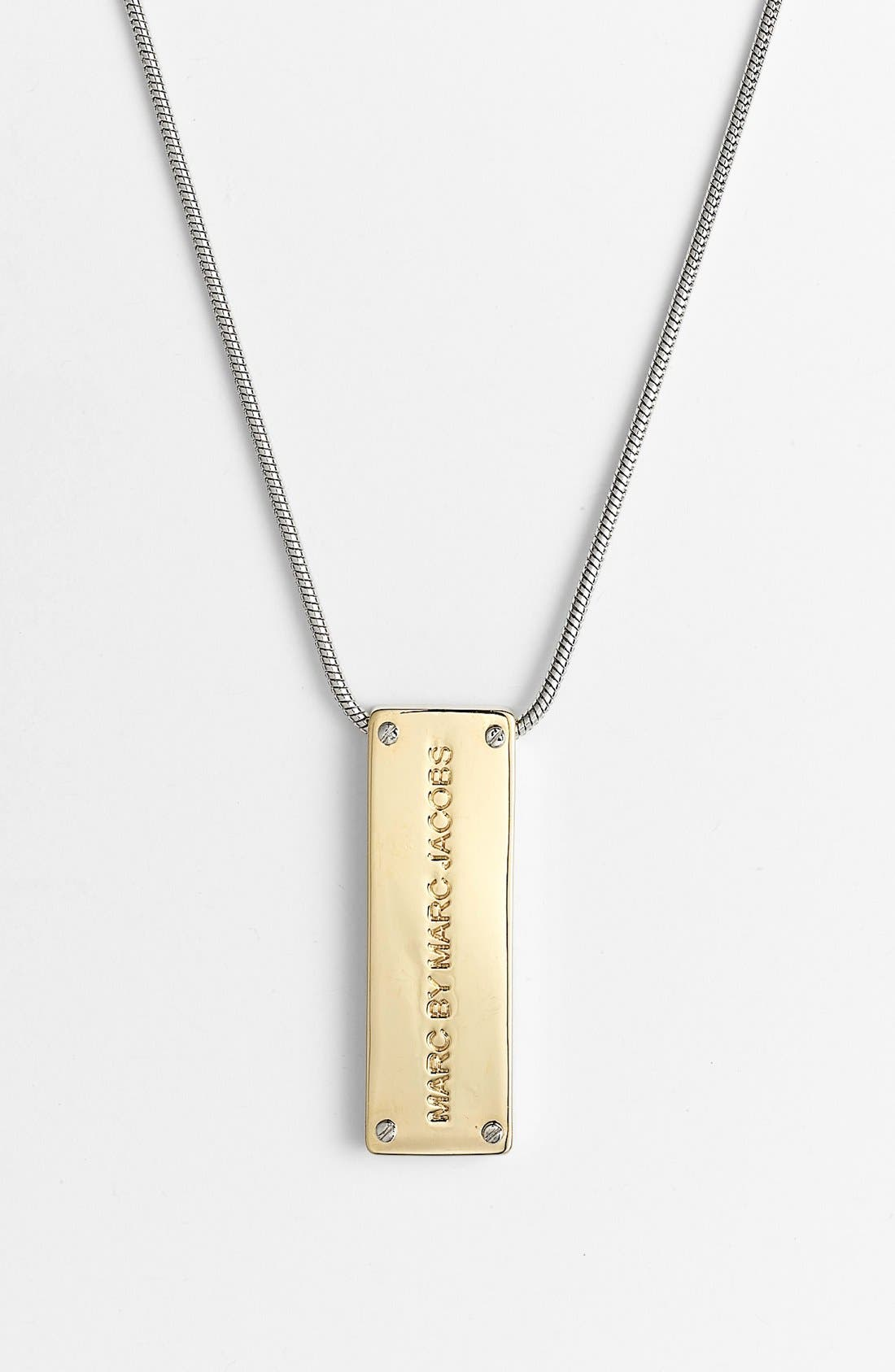 Alternate Image 1 Selected - MARC BY MARC JACOBS 'New Plaque' ID Pendant Necklace