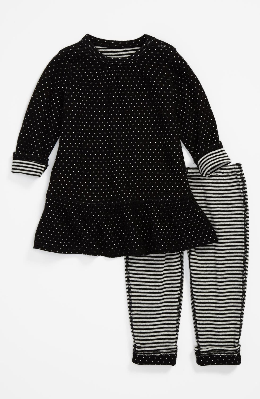 Alternate Image 1 Selected - Nordstrom Baby Reversible Dress & Leggings (Baby Girls)