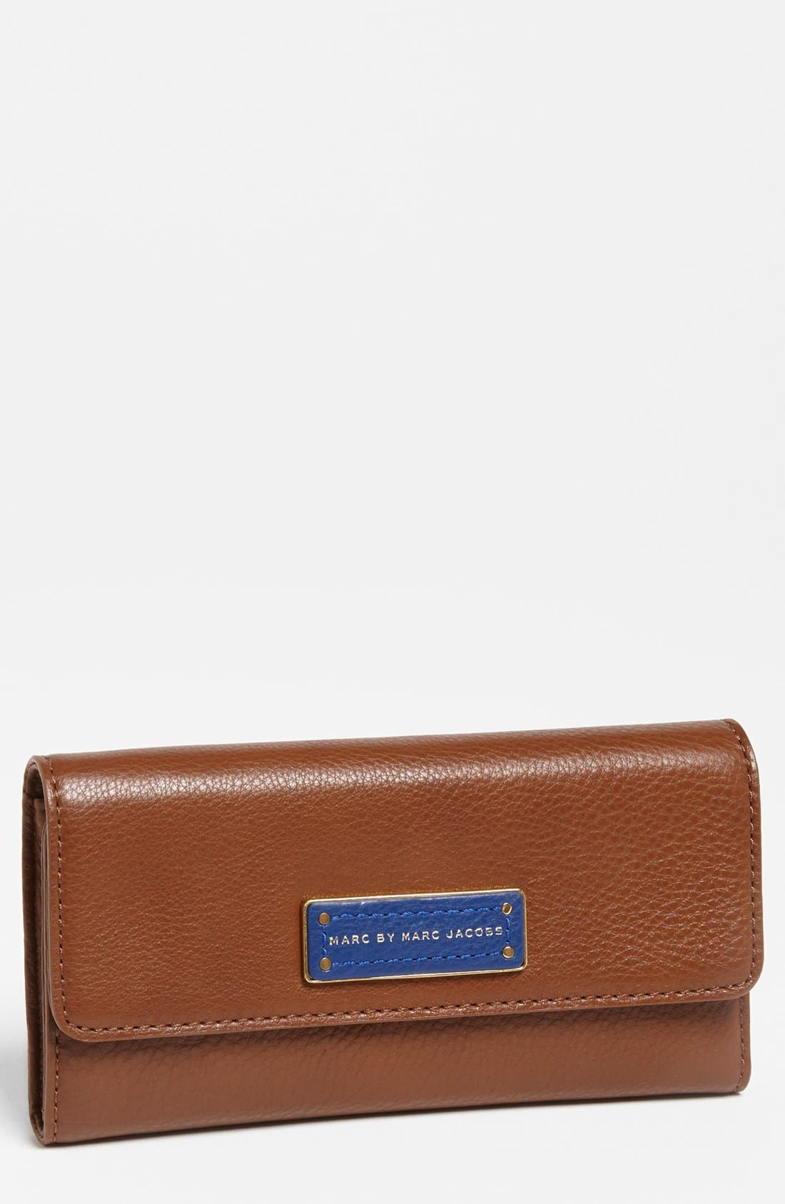 Main Image - MARC BY MARC JACOBS 'Too Hot to Handle' Colorblock Trifold Wallet