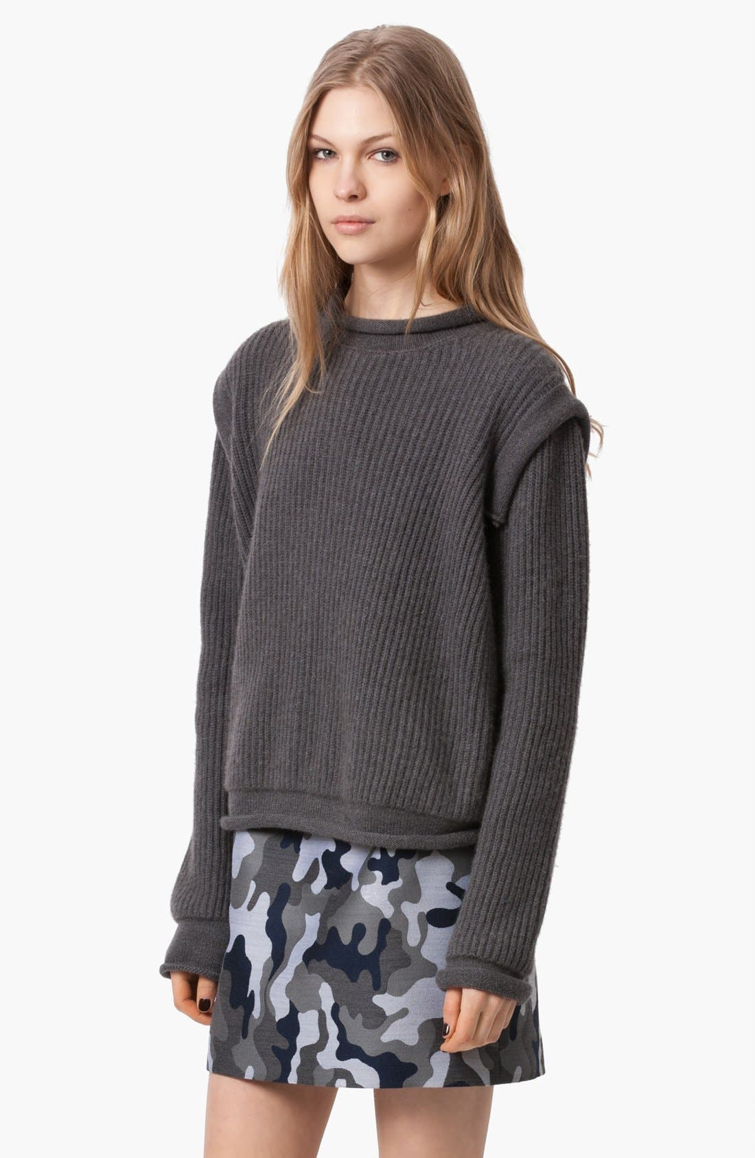 Alternate Image 4  - Christopher Kane Ribbed Cashmere Sweater