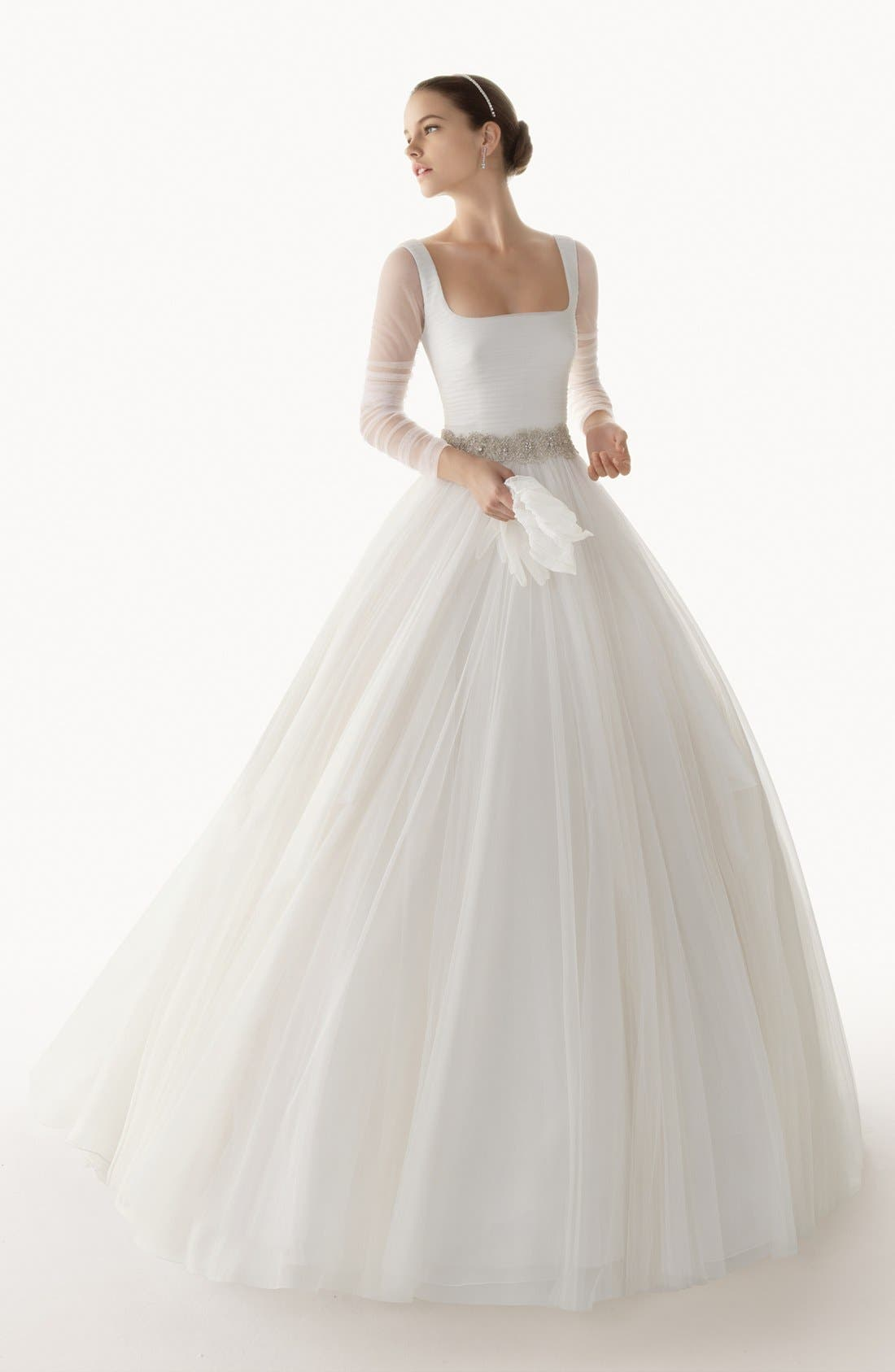 Alternate Image 4  - Rosa Clara 'Belinda' Full Skirt Chiffon Dress (In Stores Only)