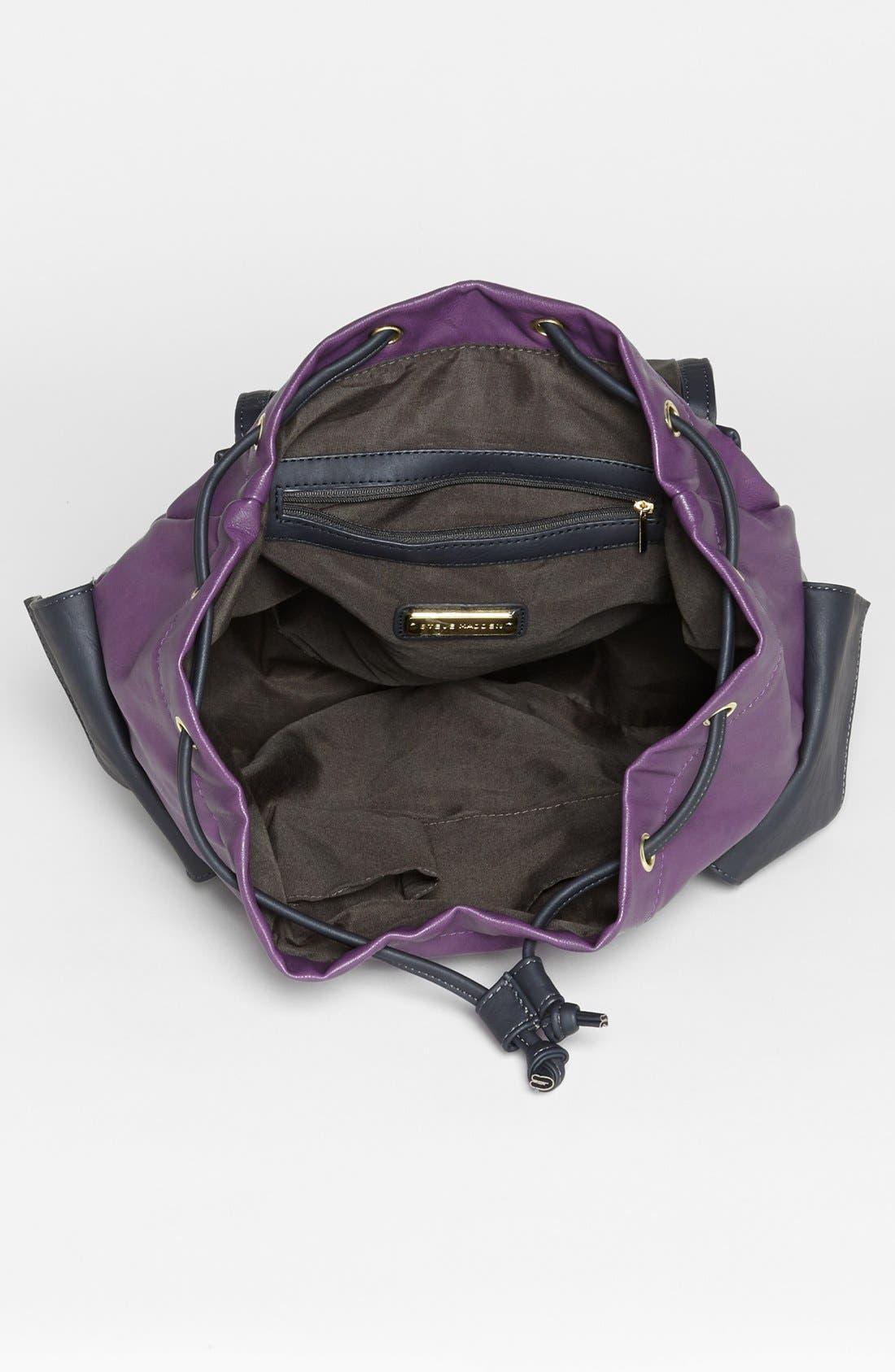 Alternate Image 3  - Steve Madden Faux Leather Backpack