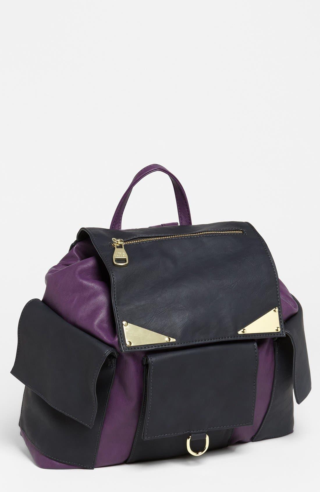Alternate Image 1 Selected - Steve Madden Faux Leather Backpack