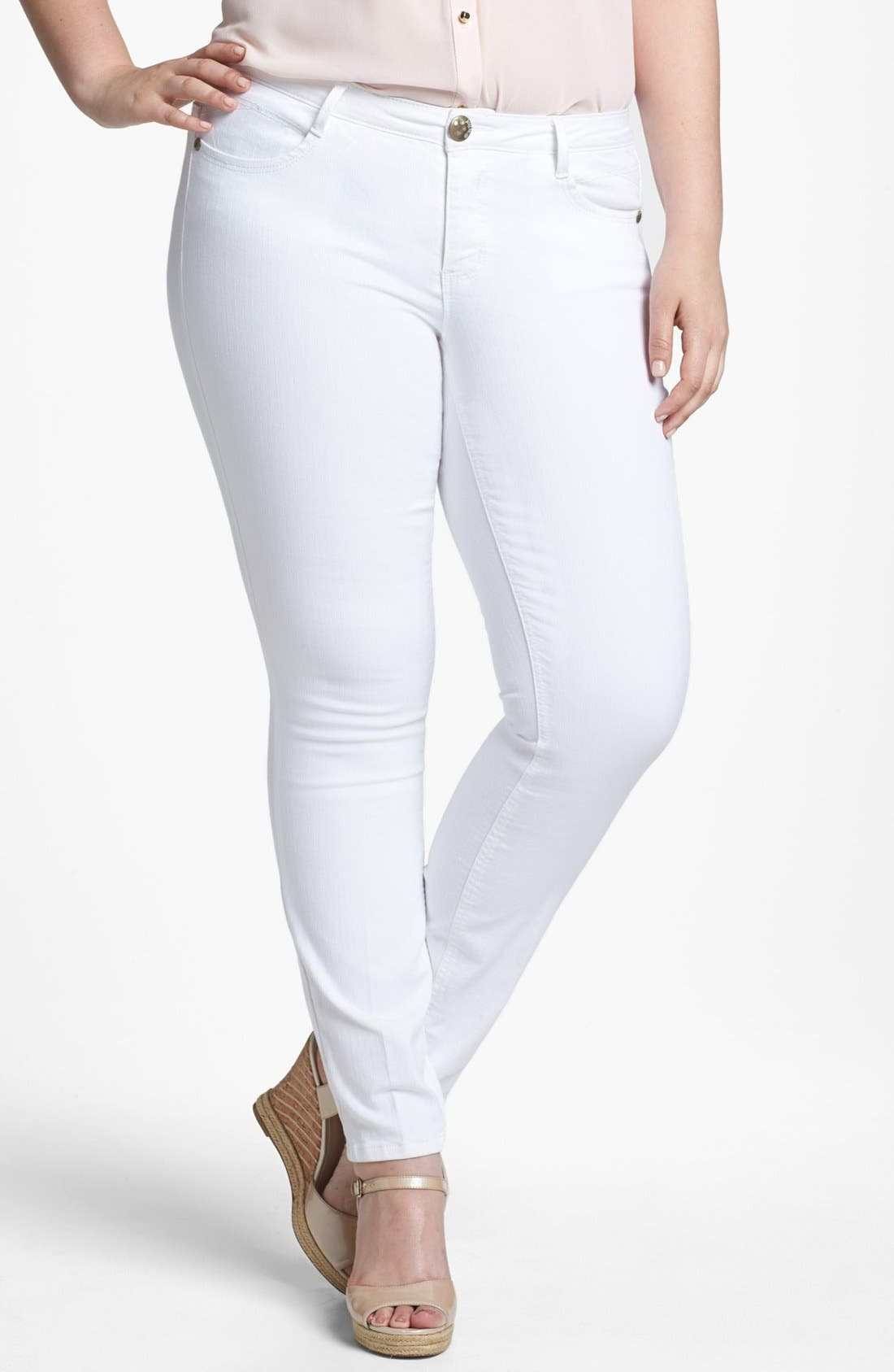 Main Image - Jolt Stretch Jeans (Juniors Plus)
