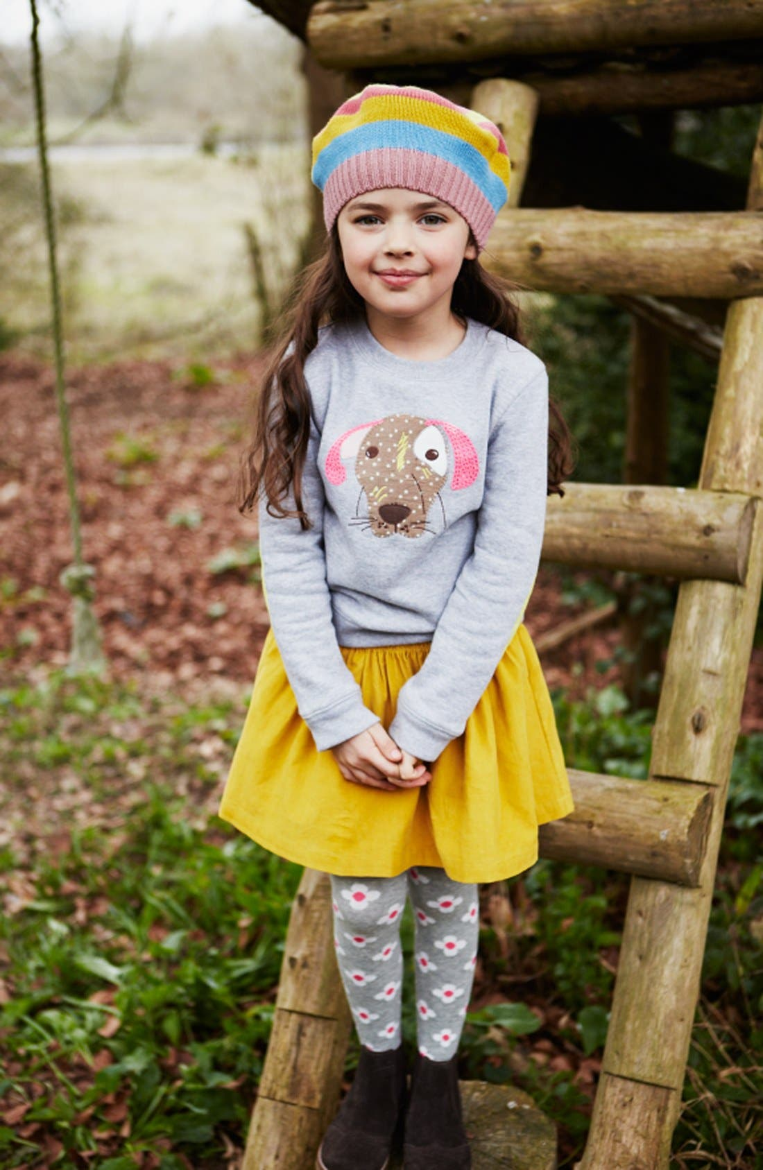 Alternate Image 2  - Mini Boden 'Everyday' Corduroy Skirt (Little Girls & Big Girls)
