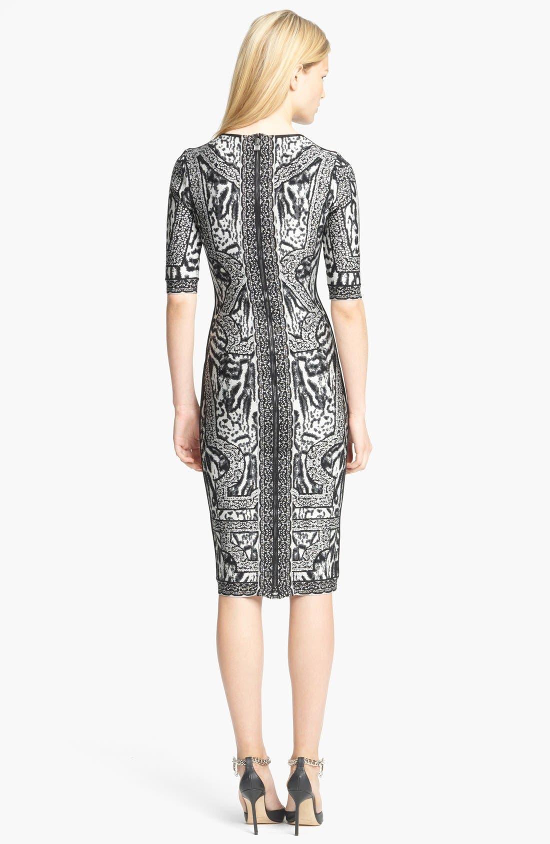 Alternate Image 2  - Herve Leger Animal Print Dress