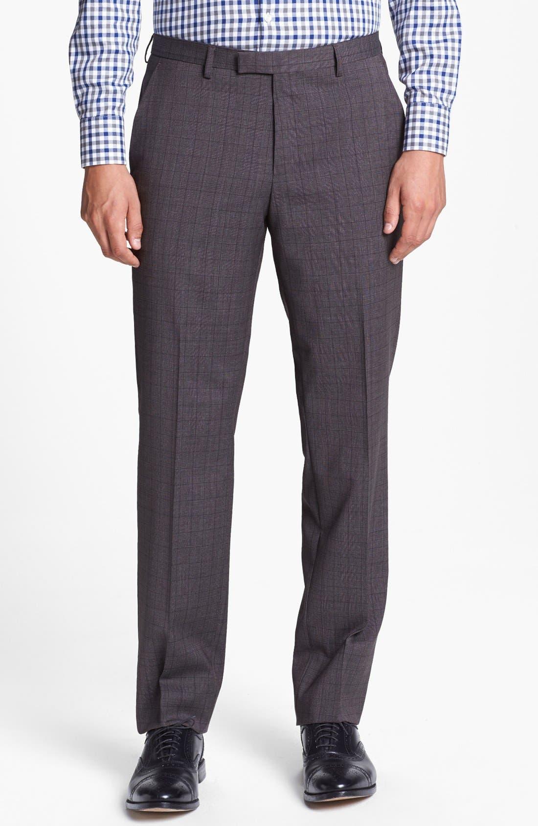 Alternate Image 5  - BOSS HUGO BOSS 'James/Sharp' Trim Fit Three Piece Plaid Suit