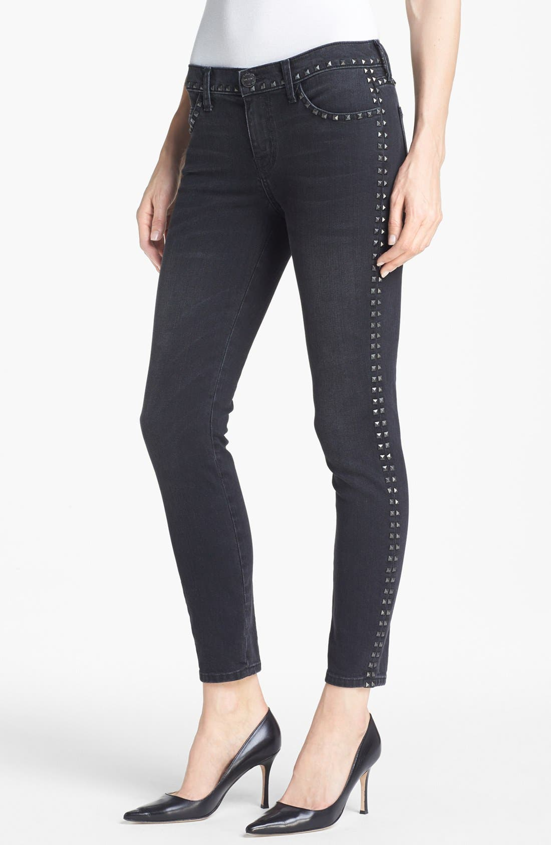 Main Image - Current/Elliott 'The Crop Skinny' Studded Jeans